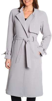 Rachel Roy Luxe Crepe Trench Coat