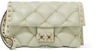 Valentino Garavani Candystud Quilted Leather Clutch - Mint