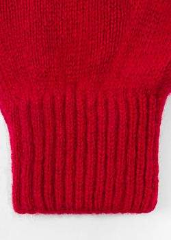 Paul Smith Men's Red Cashmere-Blend Gloves