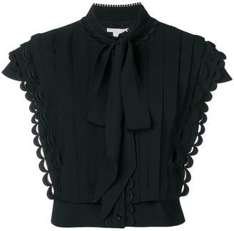 Antonio Berardi pussy bow pleat front blouse