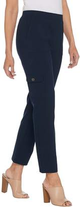 Susan Graver Regular Premium Stretch Pull-On Cargo Pants