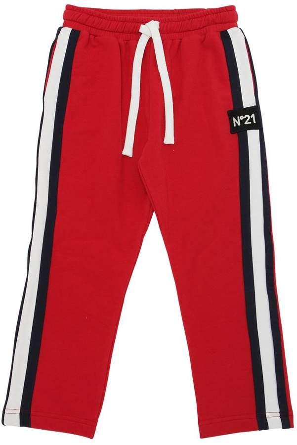 Cotton Sweatpants W/ Side Bands