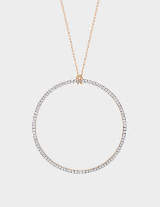 ginette_ny Diamond Circle 18-karat rose gold necklace