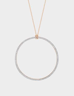 ginette_ny Diamond Circle 18-karat rose gold necklace