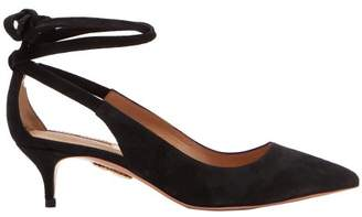 Aquazzura Milano 45 Suede Pumps - Womens - Black