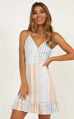 Showpo Lonely Lady Dress in Multi Stripe - 6 (XS) Dresses