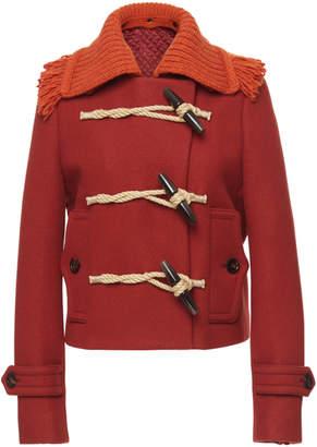 Bottega Veneta Fringe collar coat