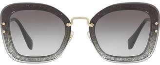 Miu Miu oversized glitter sunglasses