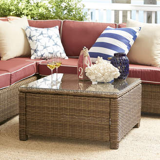 Birch Lane Lawson Wicker Square Coffee Table