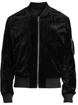 The Kooples Velvet Bomber Jacket