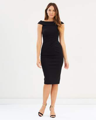Karen Millen Bardot Shoulder Pencil Dress