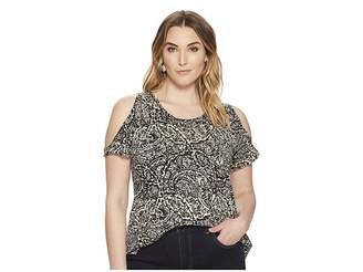 Lucky Brand Plus Size Paisley Printed Tee