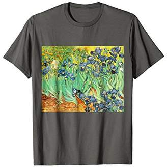 Vincent Van Gogh Irises 1889 Painting t-shirt
