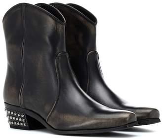 354e5c15f4f6 Miu Miu Embellished leather cowboy boots
