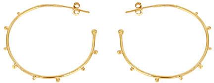Anya Jewels Studded Hoop Earrings