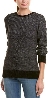 Design History Chenille Cable-Knit Sweater