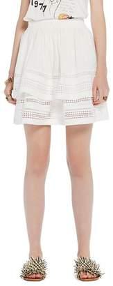 Scotch & Soda Geometric Lace Tiered Ruffle Skirt