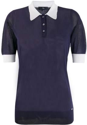 Fay contrast collar polo shirt