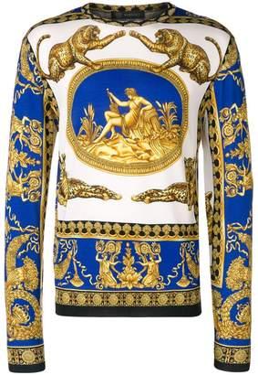 Versace signature print jumper