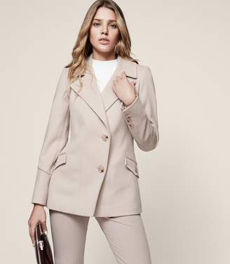 Reiss Lillie Wool-Blend Button-Front Coat