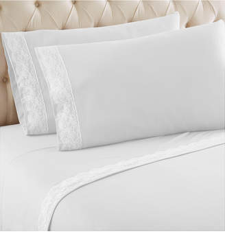 Shavel Micro Flannel Queen Lace Edged Sheet Set