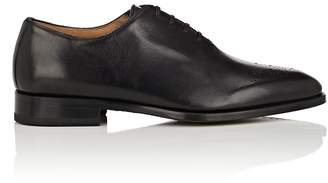 Barneys New York Men's Medallion-Toe Leather Wholecut Balmorals
