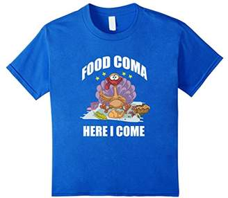 Funny Thanksgiving Shirt - Food Coma Here I Come Turkey Tee