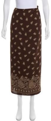Ungaro Floral Wrap Midi Skirt