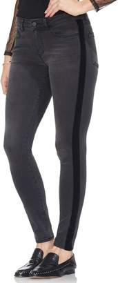 Vince Camuto Velvet Side Stripe Skinny Jeans