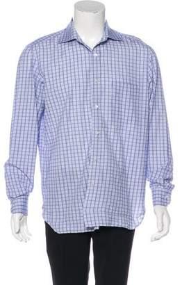Isaia Woven Check Dress Shirt