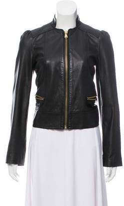 Marc by Marc Jacobs Leather Zip-Up Jacket