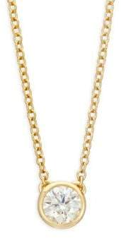 Hearts On Fire 18K Yellow Gold& Diamond Pendant Necklace