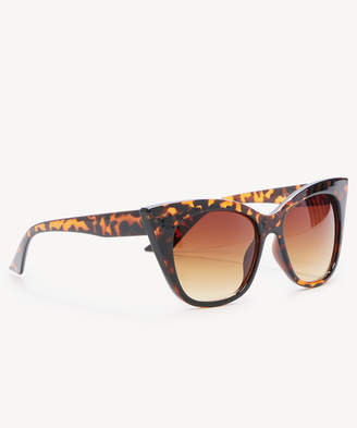 Sole Society Women's Ary Leopard In Color: Tortoise Over Cat Eye Sunglasses One Size PLASTIC From