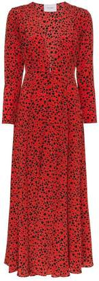 Leone We Are cheetah print silk maxi robe