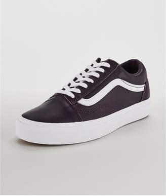c3e53852415 Vans UA Leather Old Skool - Purple White