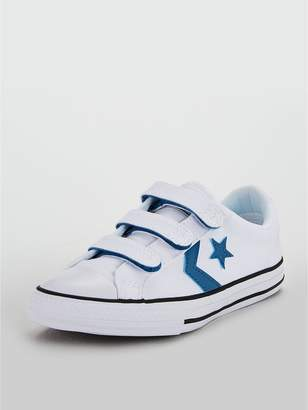 527160a5a4ef ... at Littlewoods · Converse Star Player 3V Childrens Ox exclusive range  b9971 47a0a  Converse Childrens Star Player 3V Triple Riptape Shoes ...