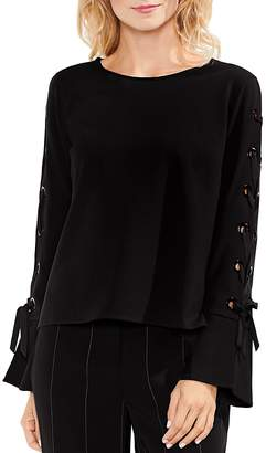 Vince Camuto Lace-Up Bell Sleeve Top