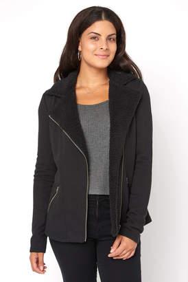 Z Supply Sherpa Moto Sweatshirt Jacket