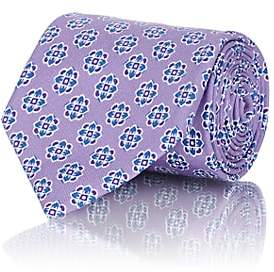 Isaia MEN'S MEDALLION-PRINT COTTON TWILL NECKTIE