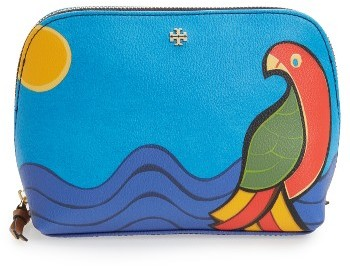 Tory Burch Tory Burch Kerrington Parrot Cosmetics Case