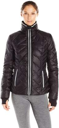 Blanc Noir Outdoors Women's Puffer Jacket with Reflective Trim