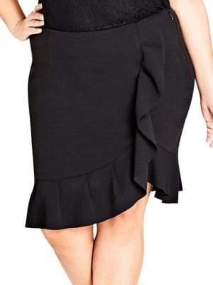 City Chic Plus Ruffle Frill Skirt