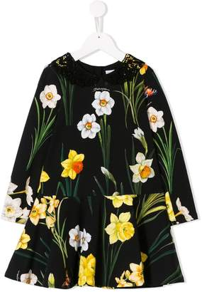 Dolce & Gabbana Narcisi print dress
