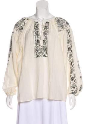 Mes Demoiselles Embroidered Long Sleeve Top