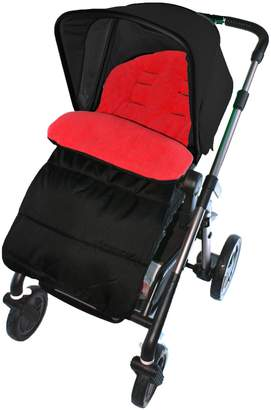 For Your Little One Footmuff/Cosy Toes Compatible with Cybex Pram Pushchair Fire Red