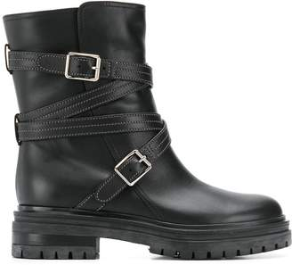 Gianvito Rossi buckled military boots