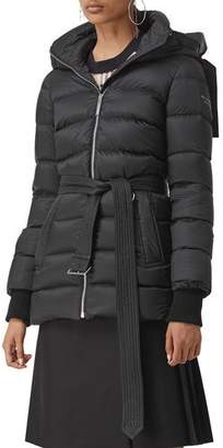 Burberry Limehouse Mid-Length Puffer Coat with Detachable Hood