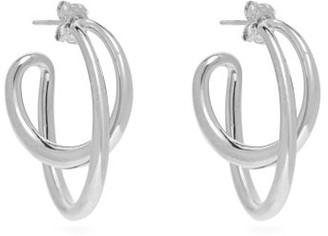 Charlotte Chesnais Initial Silver Hoop Earrings - Womens - Silver