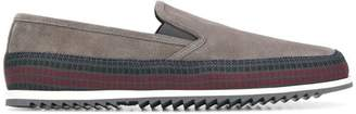 Car Shoe panelled loafers