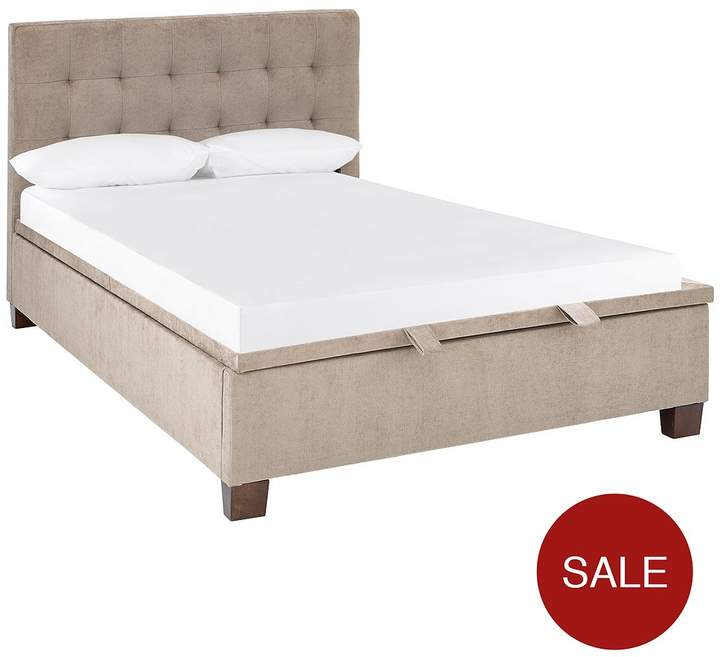 Abigail Fabric Lift-Up Storage Bed Frame With Optional Mattress